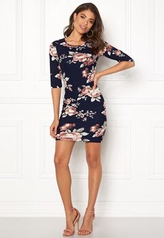 BUBBLEROOM Kecia dress Blue / Floral Bubbleroom.no