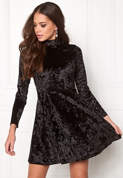 BUBBLEROOM Kenzie Velvet Dress Black Bubbleroom.no