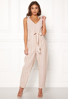 BUBBLEROOM Krissy jumpsuit Beige / White / Striped Bubbleroom.no