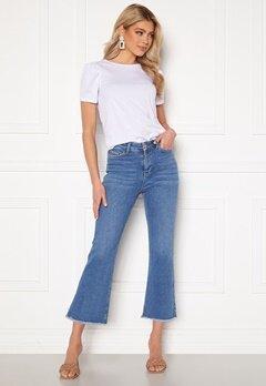 BUBBLEROOM Kyla kick flare stretch jeans Medium blue Bubbleroom.no