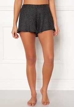 BUBBLEROOM Laila satin shorts Black / Dotted Bubbleroom.no