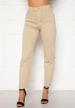 BUBBLEROOM Lana high waist jeans Beige Bubbleroom.no