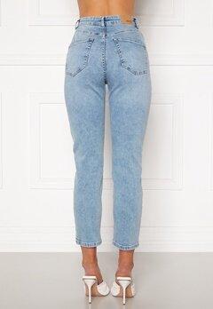 BUBBLEROOM Lana high waist jeans Light blue bubbleroom.no