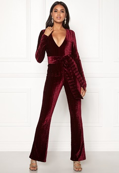 BUBBLEROOM Lene jumpsuit Wine-red Bubbleroom.no