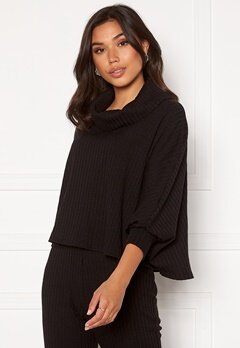 BUBBLEROOM Lesley poncho top Black Bubbleroom.no