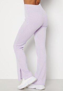 BUBBLEROOM Lesley rib trousers Light lilac bubbleroom.no