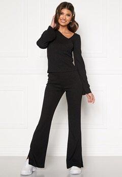 BUBBLEROOM Lesley rib trousers Black Bubbleroom.no