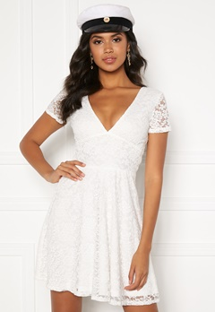 BUBBLEROOM Lexi lace dress White Bubbleroom.no