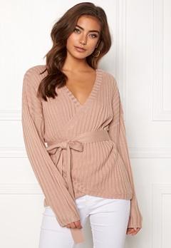 BUBBLEROOM Lillyanne knitted sweater Dusty pink Bubbleroom.no