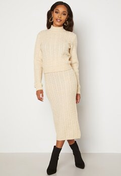 BUBBLEROOM Lively knitted skirt Cream bubbleroom.no