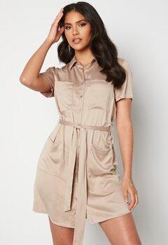 BUBBLEROOM Liwia shirt dress Light brown Bubbleroom.no
