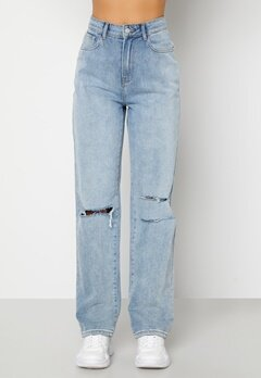BUBBLEROOM Lori straight leg jeans Light denim Bubbleroom.no