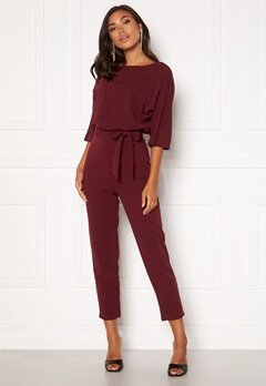BUBBLEROOM Lorna jumpsuit Wine-red Bubbleroom.no