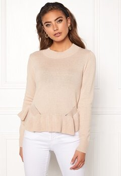 BUBBLEROOM Lova knitted sweater Beige Bubbleroom.no