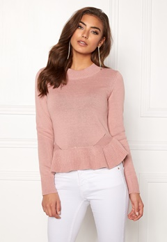 BUBBLEROOM Lova knitted sweater Dusty pink Bubbleroom.no