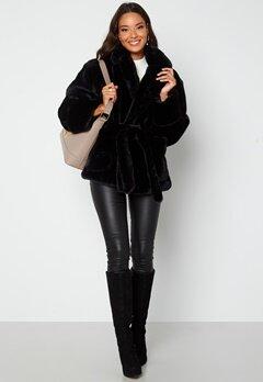 BUBBLEROOM Vadah Faux Fur Jacket Black bubbleroom.no