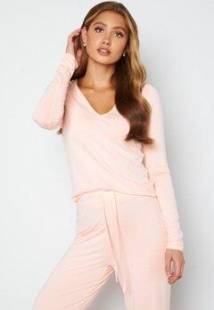 BUBBLEROOM Lynne long sleeve pyjama top Light pink bubbleroom.no