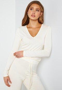 BUBBLEROOM Lynne long sleeve pyjama top Offwhite bubbleroom.no