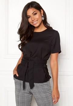 BUBBLEROOM Maddie tie blouse Black Bubbleroom.no