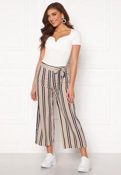BUBBLEROOM Maja culotte trousers Beige / Black / Striped Bubbleroom.no
