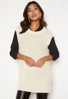 BUBBLEROOM Manja knitted vest Offwhite Bubbleroom.no