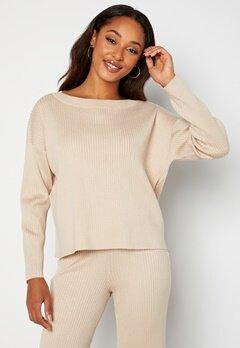 BUBBLEROOM Marah knitted sweater Light beige bubbleroom.no
