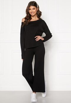 BUBBLEROOM Marah knitted trousers Black Bubbleroom.no