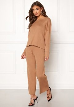 BUBBLEROOM Marah knitted trousers Camel Bubbleroom.no