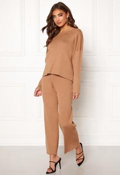 BUBBLEROOM Marah knitted trousers Camel Bubbleroom.no