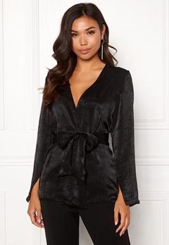 BUBBLEROOM Marianna blazer blouse Black Bubbleroom.no