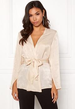 BUBBLEROOM Marianna blazer blouse Champagne Bubbleroom.no