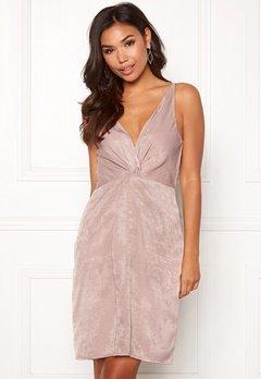 BUBBLEROOM Marianna front twist dress Silver coloured Bubbleroom.no