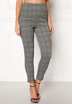 BUBBLEROOM Megan trousers Grey / Yellow / Checked Bubbleroom.no