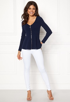 BUBBLEROOM Megan zip jacket Dark blue Bubbleroom.no