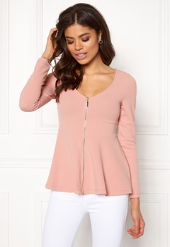 BUBBLEROOM Megan zip jacket Dusty pink Bubbleroom.no