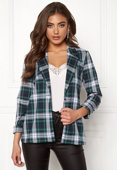 BUBBLEROOM Melina blazer Green / Checked Bubbleroom.no
