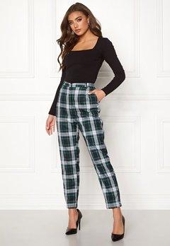 BUBBLEROOM Melina trousers Green / Checked Bubbleroom.no