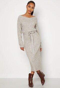 BUBBLEROOM Meline knitted dress Grey melange bubbleroom.no