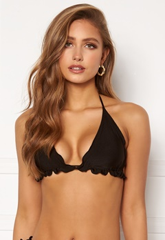 BUBBLEROOM Melissa ruffled bikini top Black Bubbleroom.no