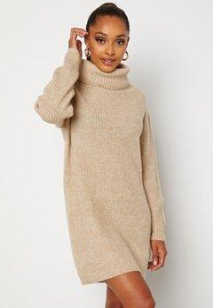 BUBBLEROOM Melissi knitted sweater dress Beige bubbleroom.no