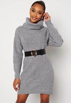 BUBBLEROOM Melissi knitted sweater dress Grey-blue bubbleroom.no