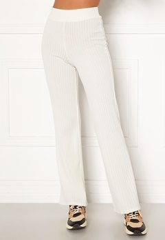 BUBBLEROOM Miley knitted trousers White Bubbleroom.no