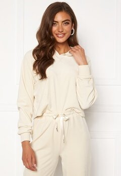 BUBBLEROOM Milia super soft velvet hoodie Cream Bubbleroom.no