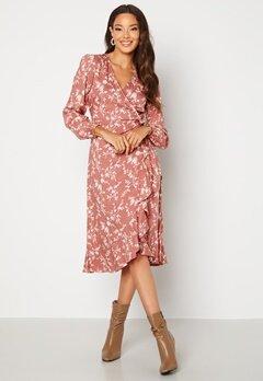 BUBBLEROOM Milia wrap dress Dusty pink / Floral Bubbleroom.no