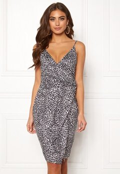 BUBBLEROOM Mirelle twist dress Leopard Bubbleroom.no