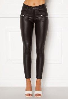 BUBBLEROOM Moa coated jeans Black Bubbleroom.no