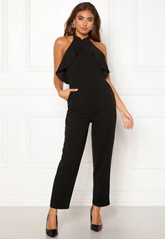 Moa Mattsson X Bubbleroom Flounce jumpsuit Black Bubbleroom.no