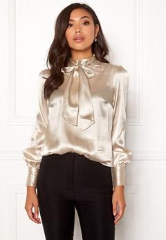 BUBBLEROOM Molly bow blouse Champagne Bubbleroom.no