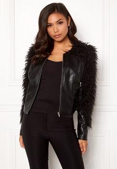 fb2a550c BUBBLEROOM Molly PU jacket Black Bubbleroom.no