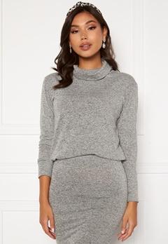 BUBBLEROOM Nalia fine knitted sweater Light grey melange bubbleroom.no